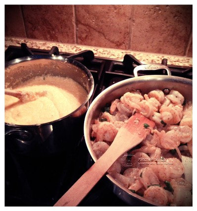 Grits and Shrimp W